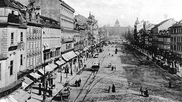 Tramvaje na Václavském náměstí v 19. století
