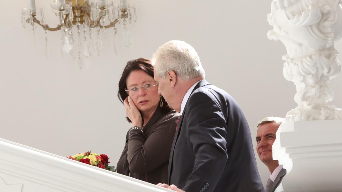 Miroslava Němcová, Miloš Zeman a Vratislav Mynář