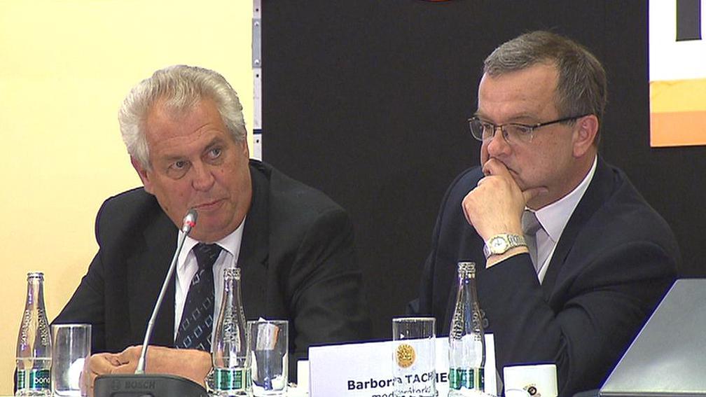 Miloš Zeman a Miroslav Kalousek