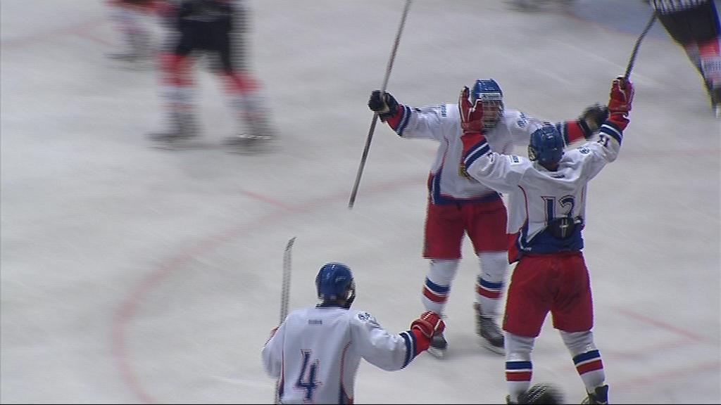 Radost Pavla Jenyše po gólu na 2:3