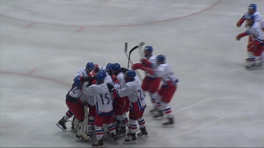 Radost českých hokejistů