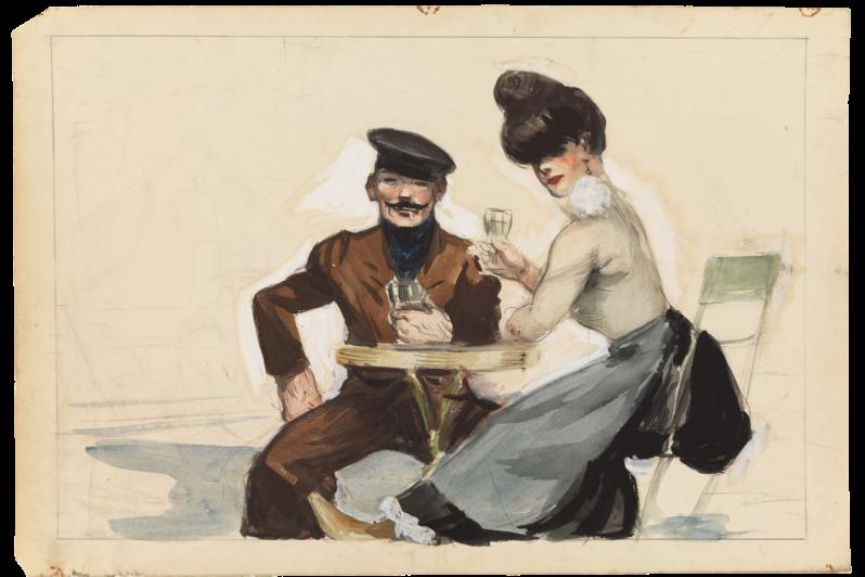 Edward Hopper / Couple Drinking