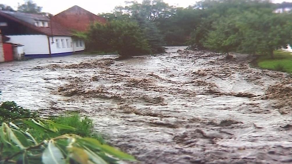 Povodeň v Blatničce v roce 2010