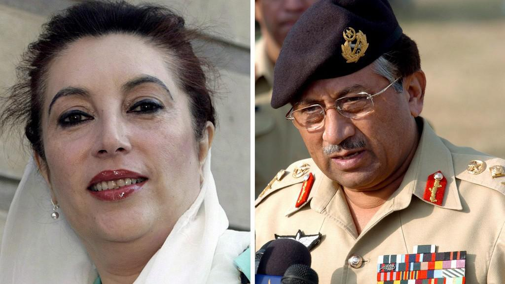 Bhuttová s Mušarafem