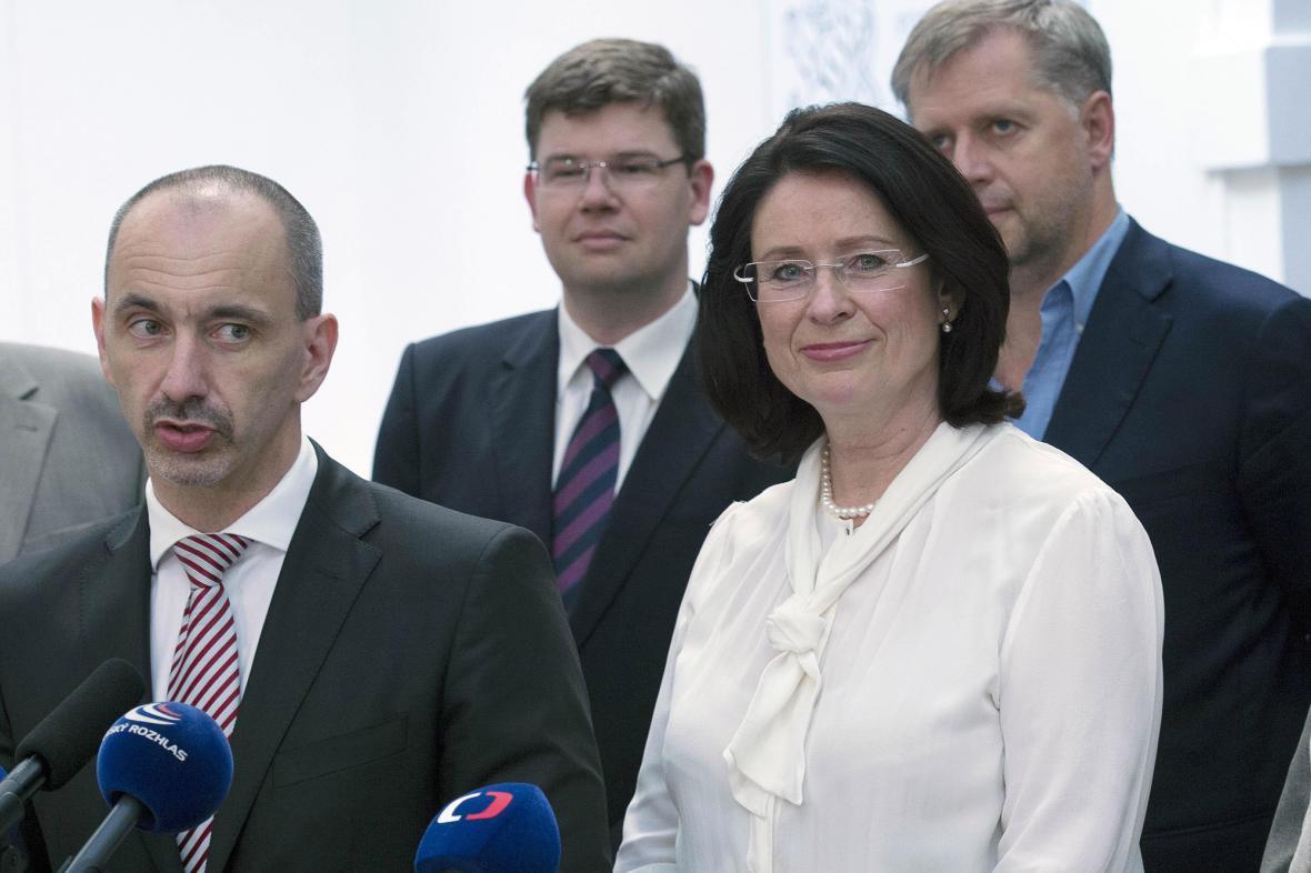 Miroslava Němcová a členové grémia ODS