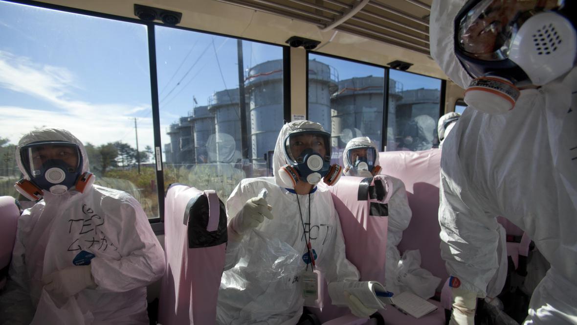 Novináři ve Fukušimě