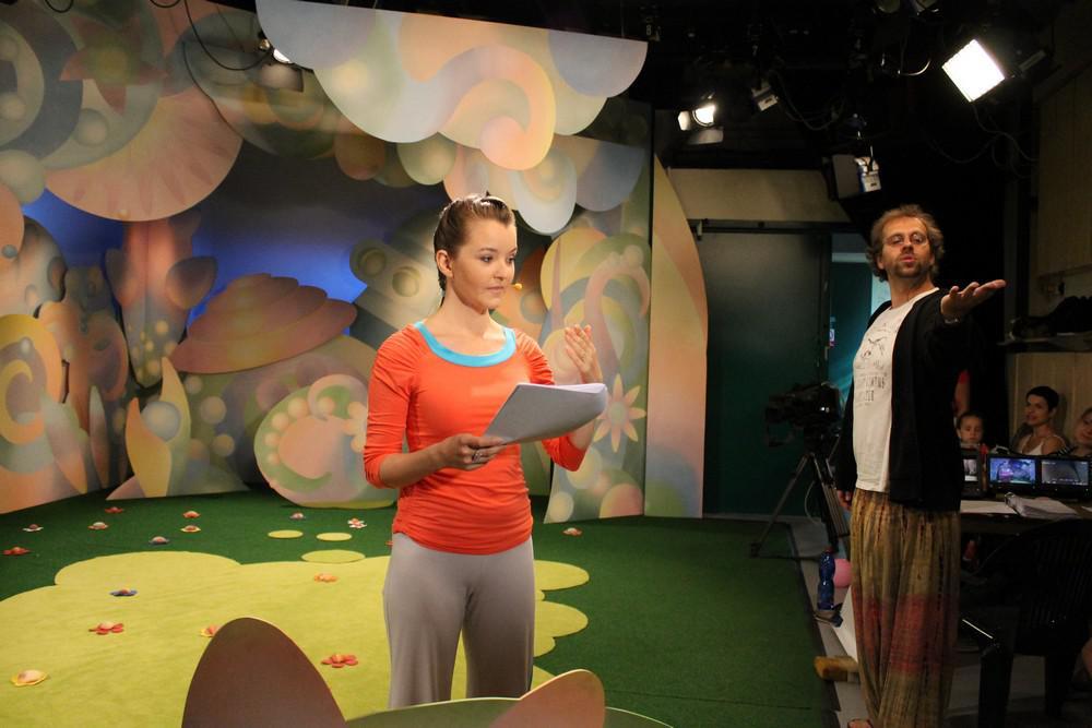 Příprava na natáčení Jogínků (Kristýna Nečasová a režisér Petr Šimák)
