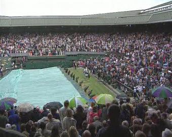 Déšť při finále Wimbledonu