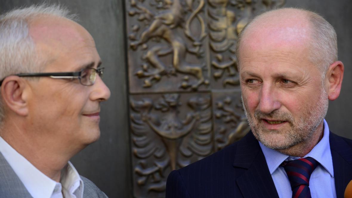 Jiří Balvín a Jan Burian (vlevo)