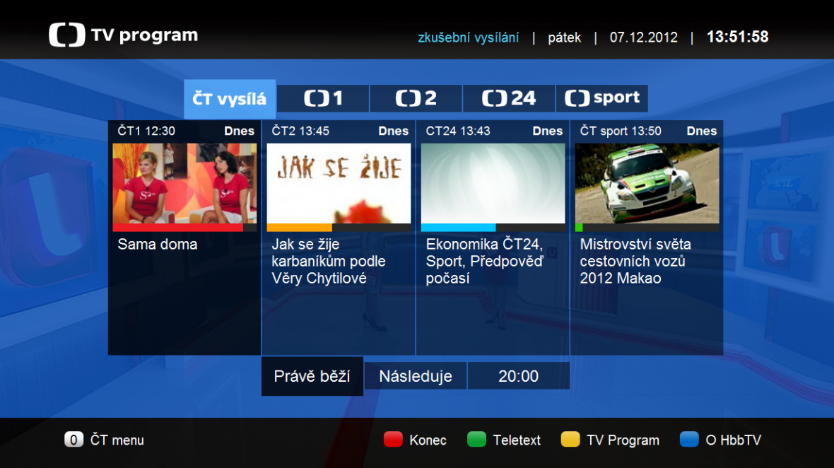 TV program na HbbTV