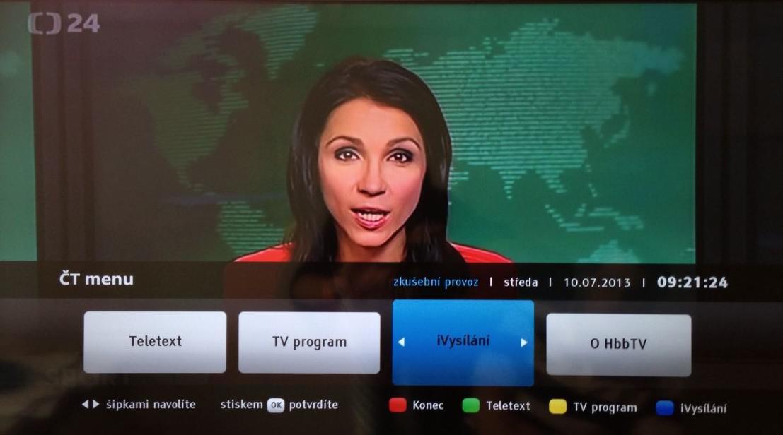 Menu HbbTV