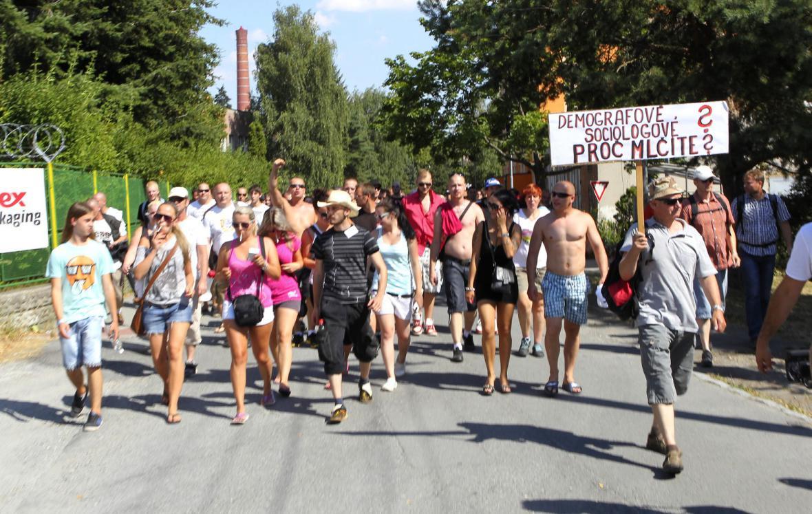 Pochod pravicových radikáků ve Vítkově