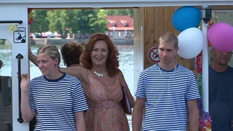 Simona Stašová na palubě parníku
