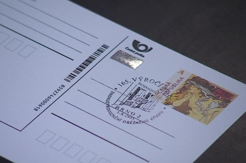Pošta má k výročí páternosteru speciální razítko