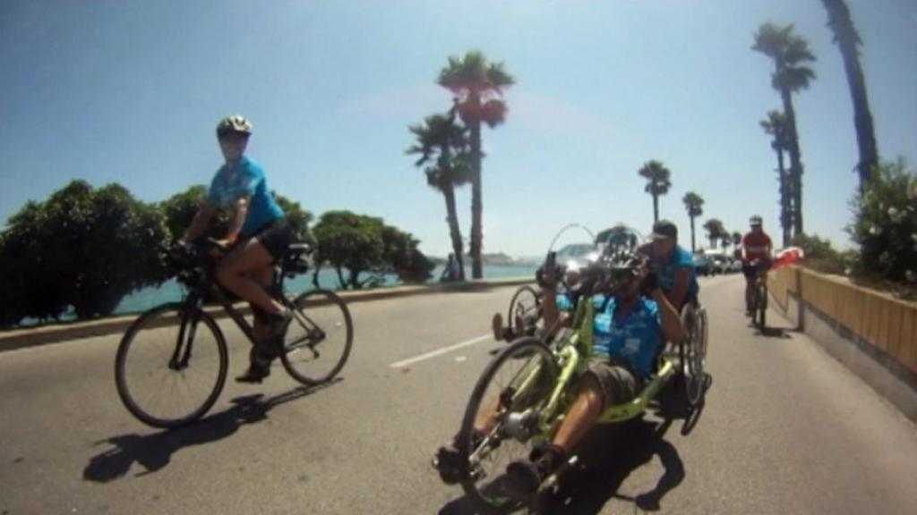 Handbikeři na cestě na Gibraltar