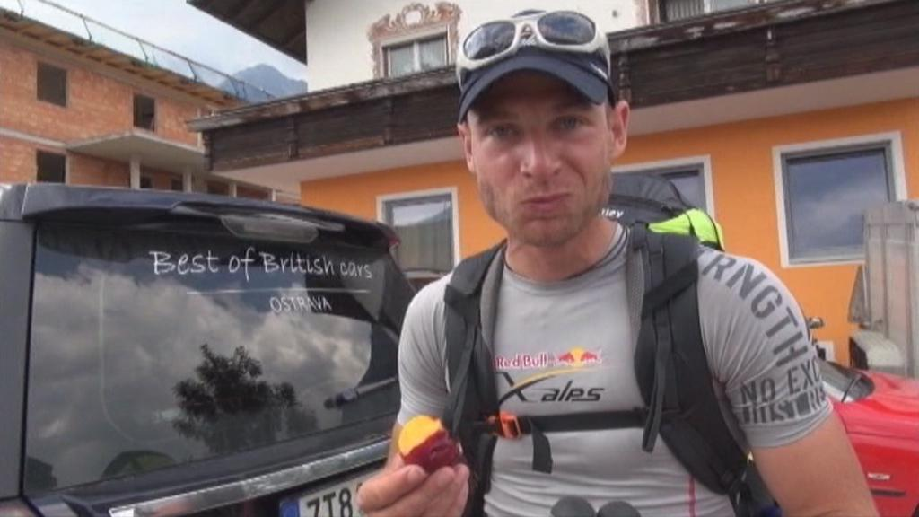 Michal Krysta na trase Red Bull X-Alps 2013