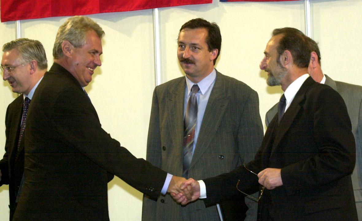 Miloš Zeman a ministr dopravy Jaromír Schling