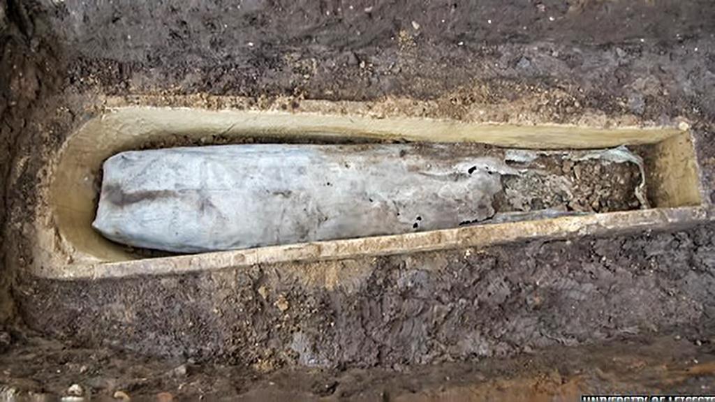 Rakev nalezená nedaleko ostatků Richarda III.