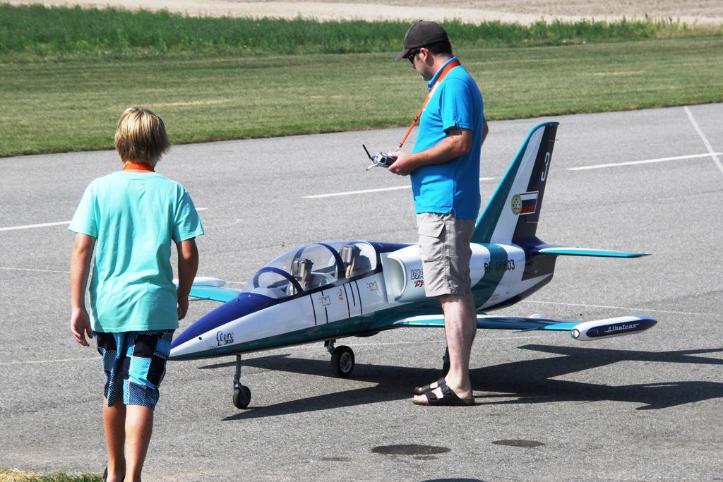Model proudového letadla