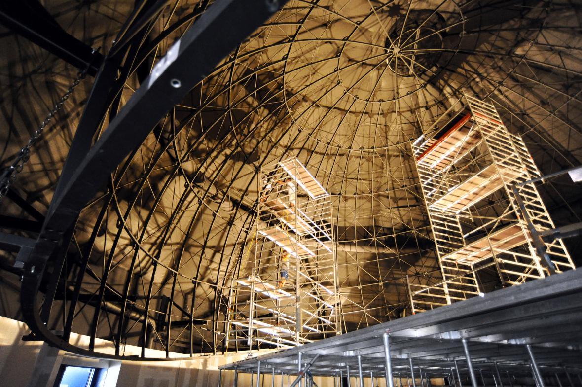 Nová projekční plocha bude mít průměr 17 metrů