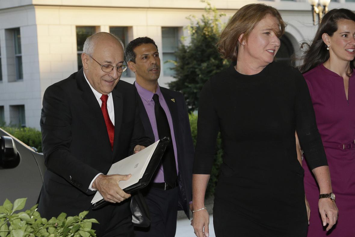 Izraelská delegace na jednáních ve Washingtonu