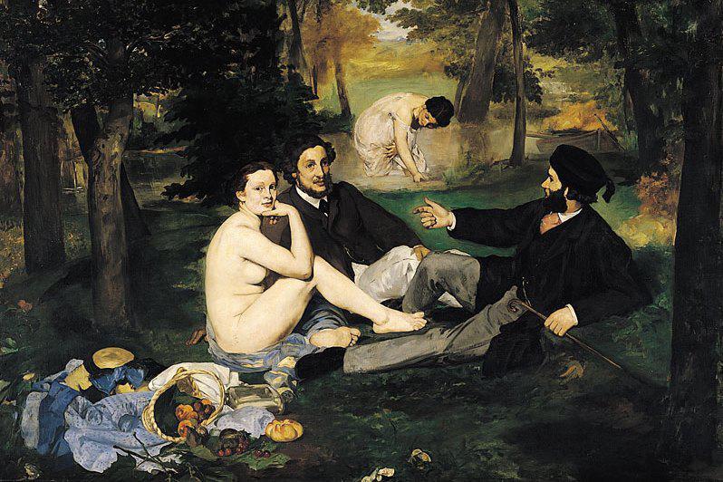 Édouard Manet / Snídaně v trávě (1863)