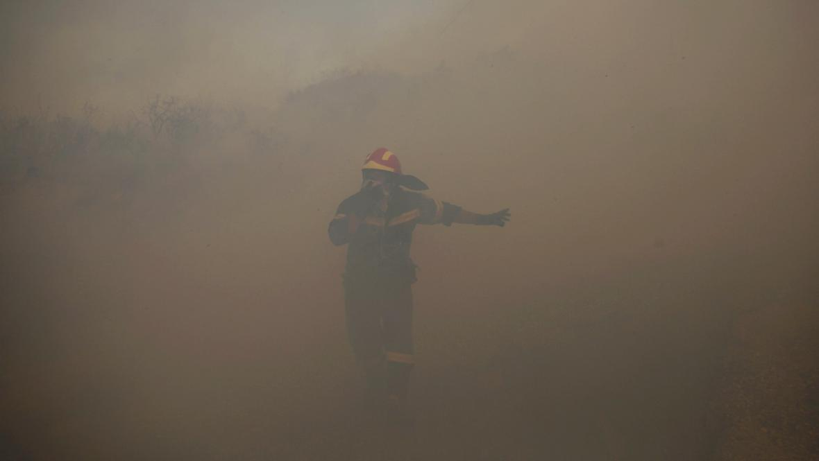 Požár v Řecku