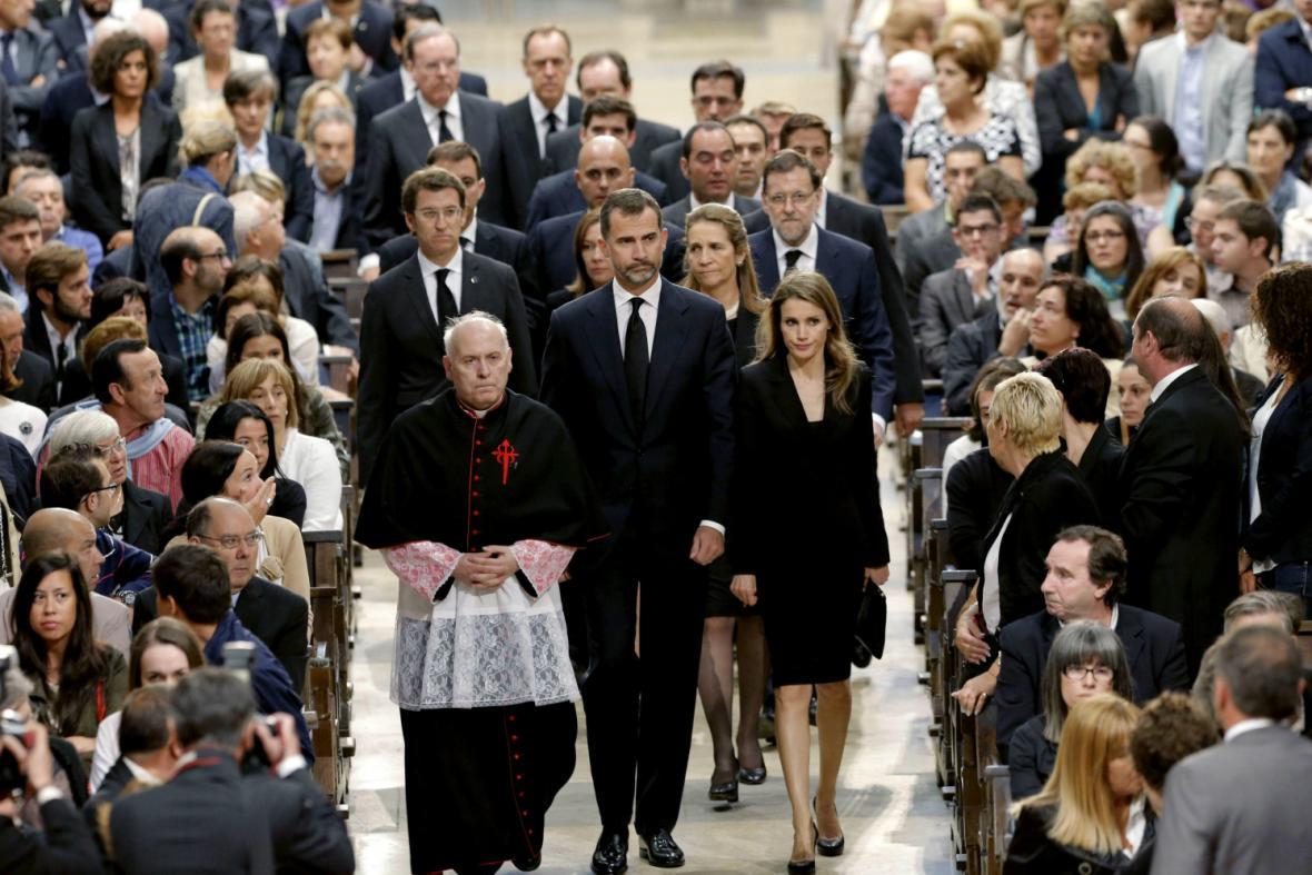 Na tryznu do Santiaga dorazil i princ Felipe s manželkou