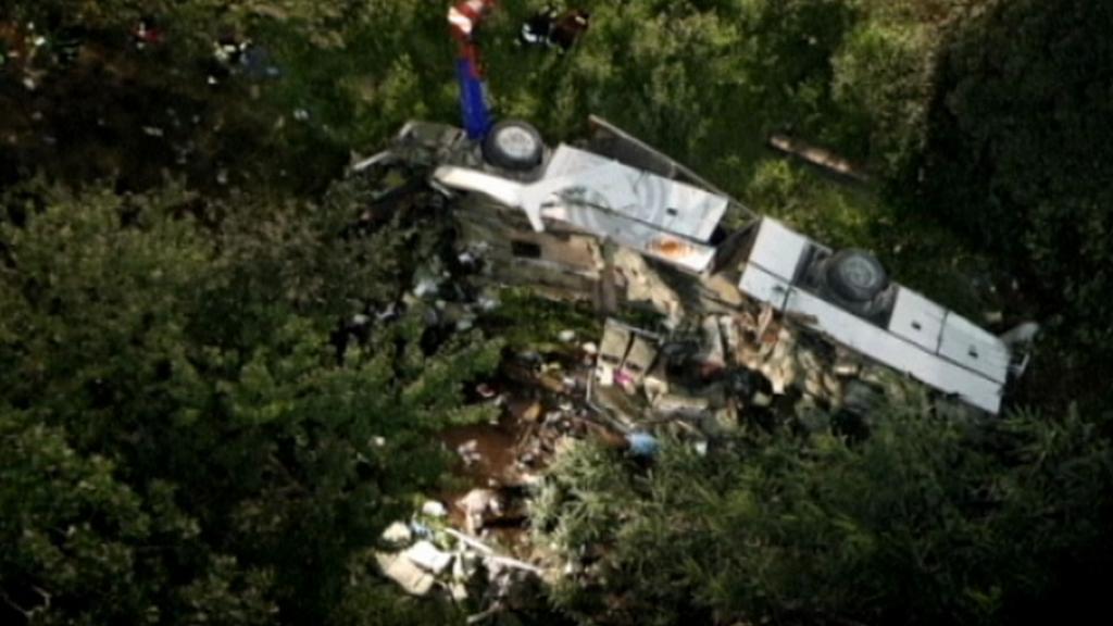 Nehoda autobusu u italského Avellina