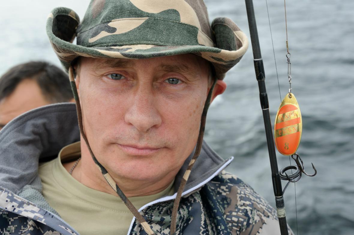 Nekompromisní rybář Vladimir Putin