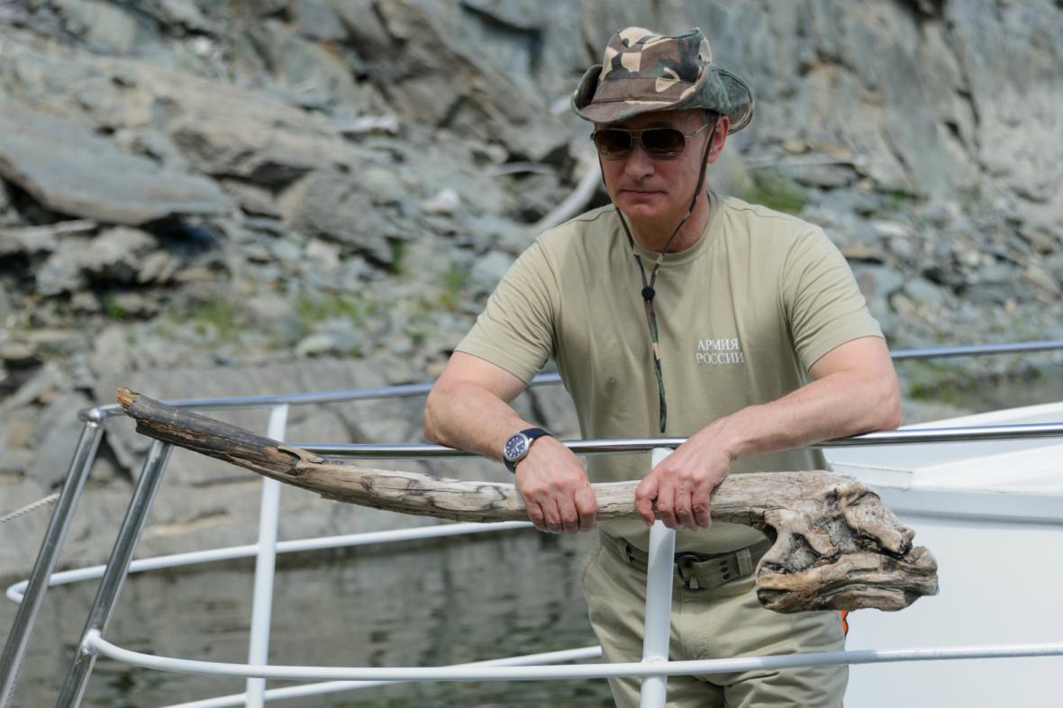 Putin na rybách