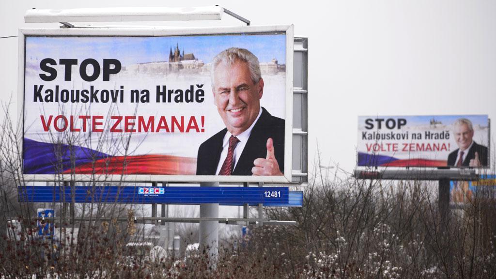 Předvolební billboardy Miloše Zemana
