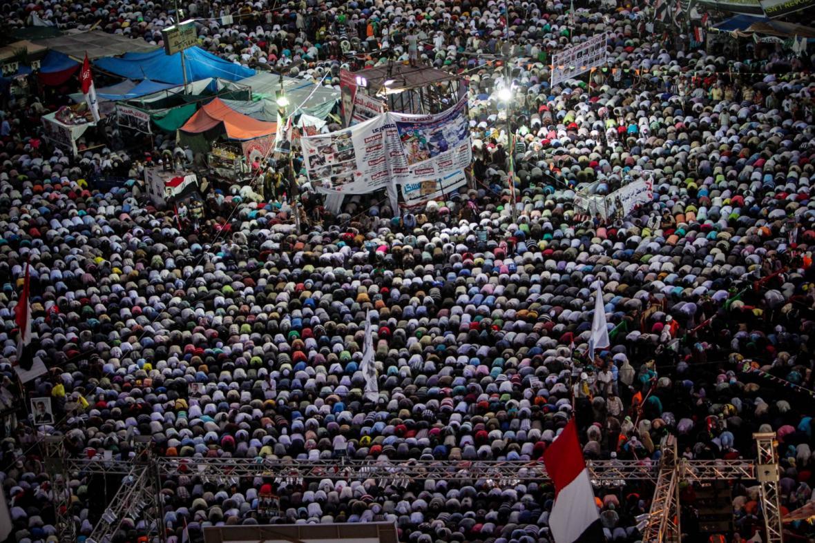 Demonstrace na káhirském náměstí Tahrír