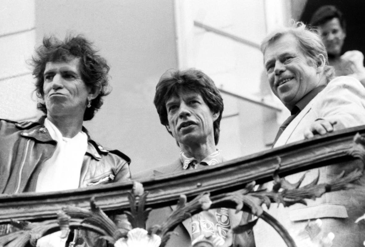 Václav Havel a Rolling Stones