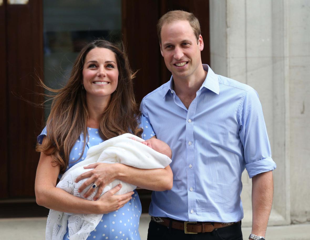 Kate a William se synem poprvé na veřejnosti