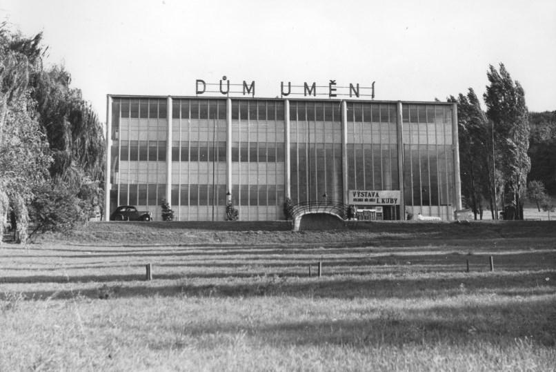Památník Tomáše Bati po přestavbě v 50. letech