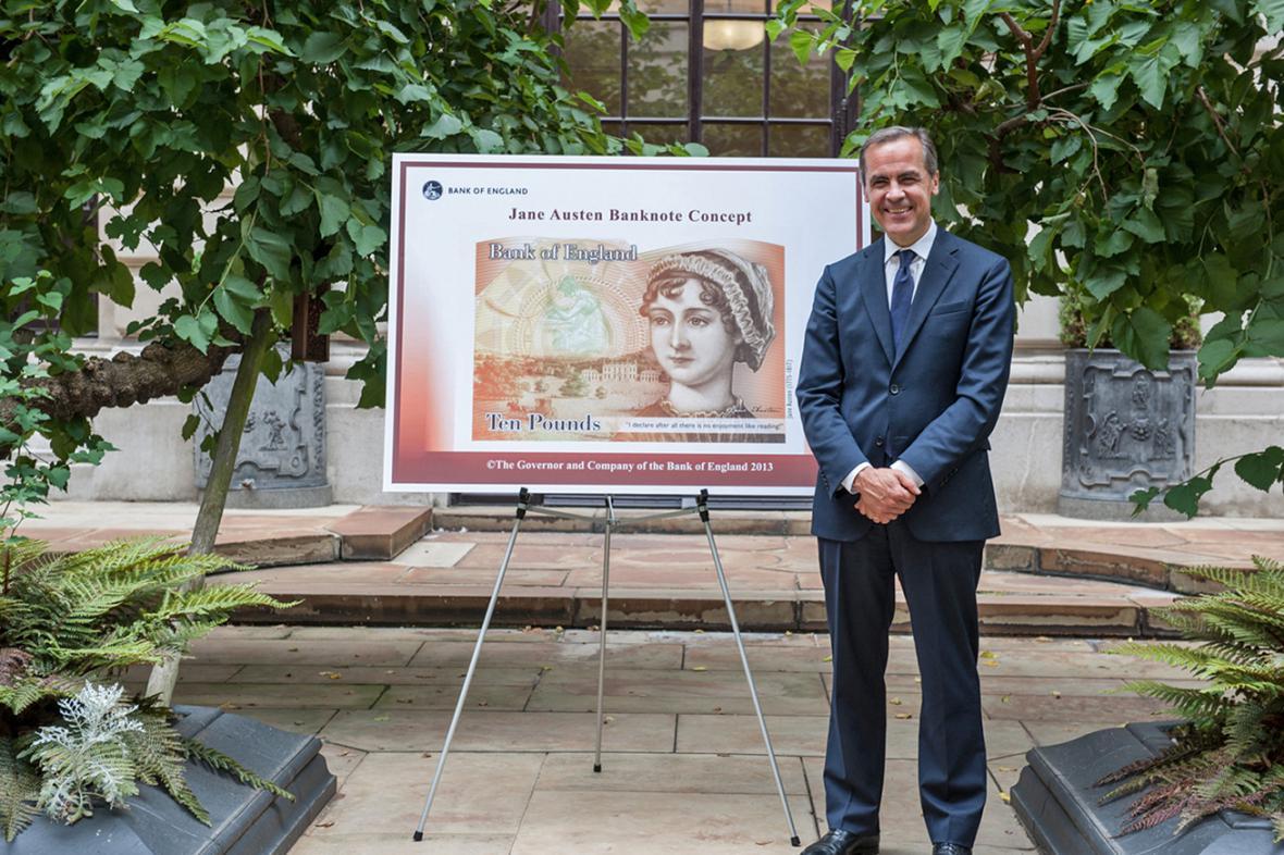 Jane Austenová na desetilibrové bankovce