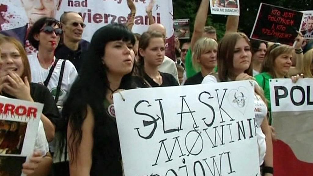 Polský protest proti rituálním porážkám zvířat