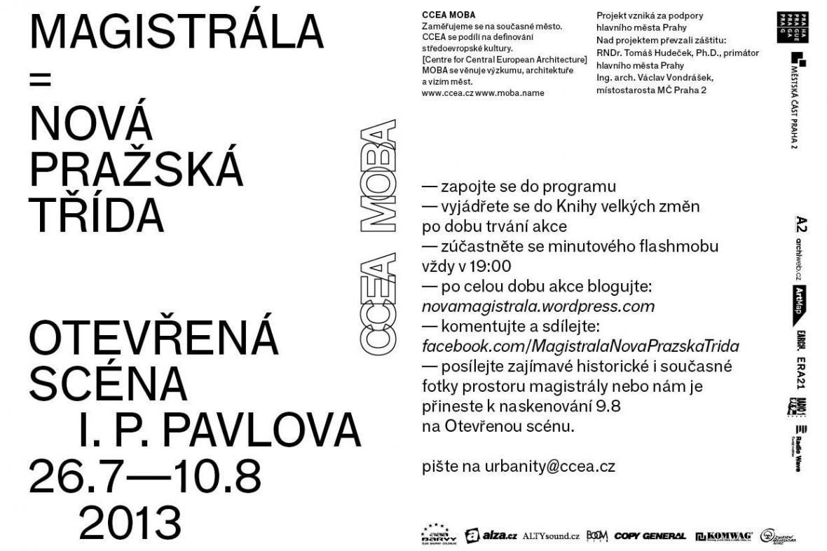 Pozvánka na akci Magistrála - Nová pražská třída