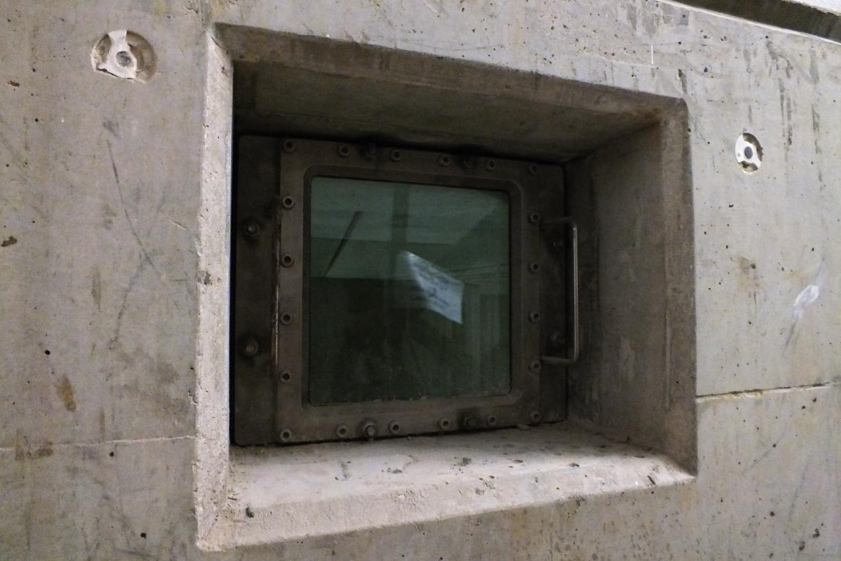 Interiéry retenční nádrže