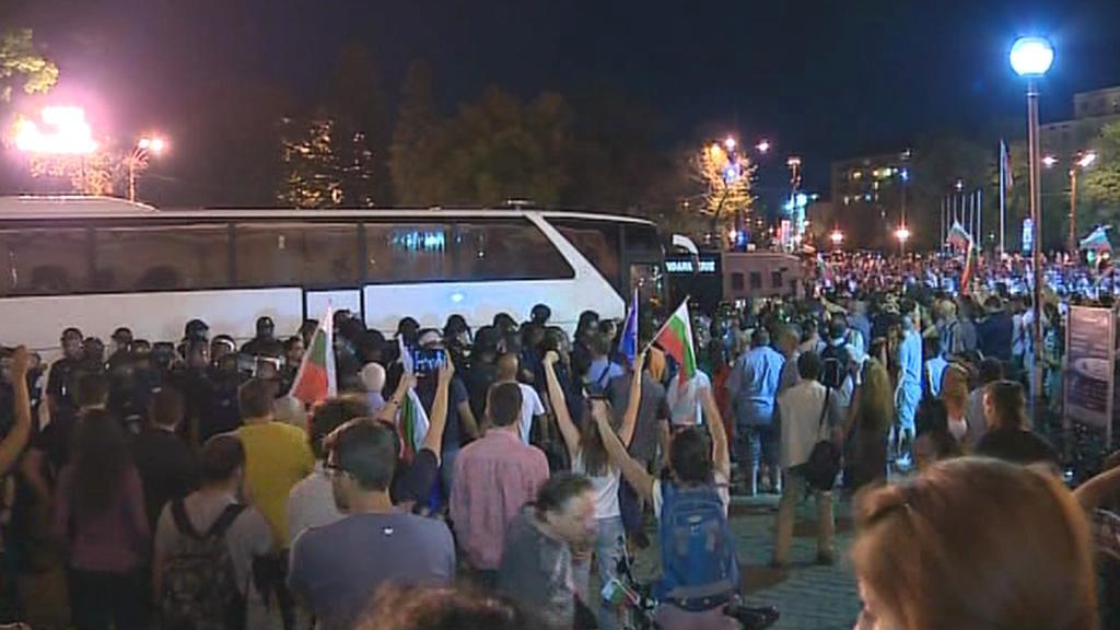 Bulhaři zablokovali vchod do parlamentu