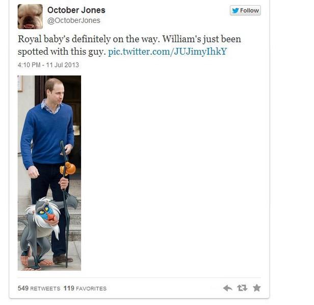Vtipy o #RoyalBaby na Twitteru