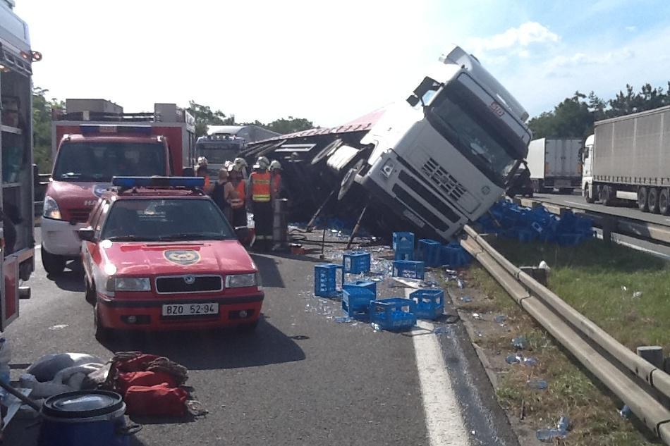Nehoda se stala na 191. kilometru dálnice D1