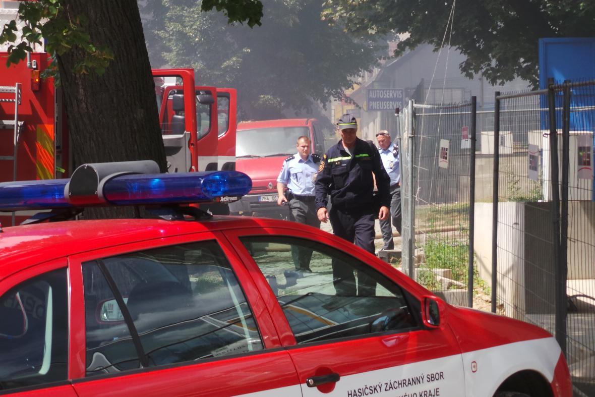 Požár v Kollárově ulici