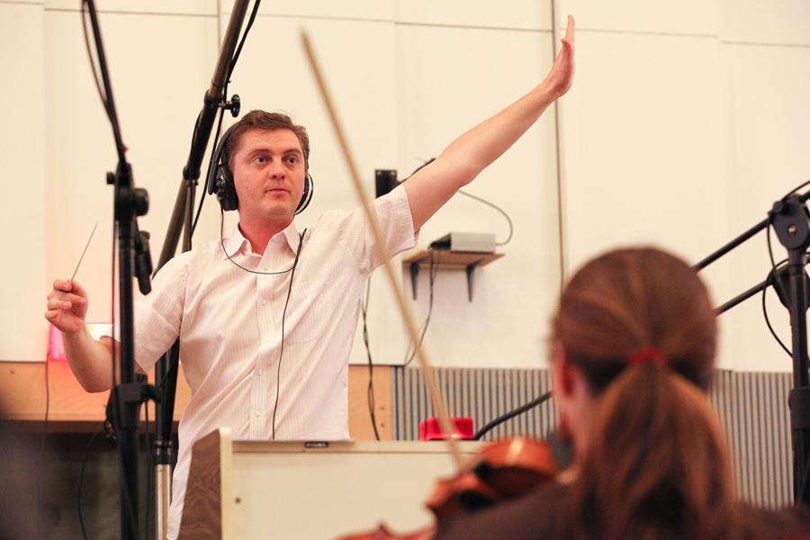 Dirigent Jan Kučera v akci