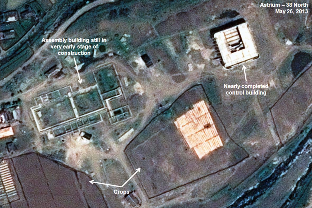 Severokorejská raketová základna na satelitním snímku