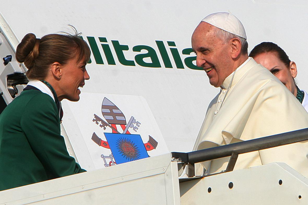 František na cestě do Brazílie
