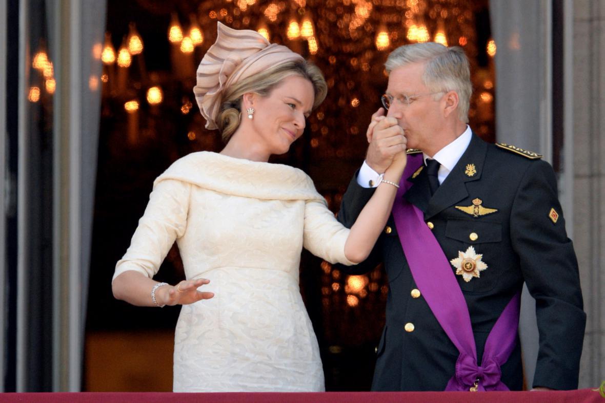 Nový belgický král Phillippe s manželkou Mathildou
