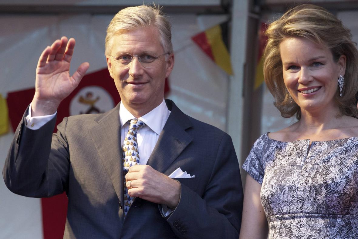 Phillippe s manželkou