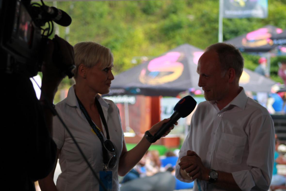 Nakonec se předvedli i profesionálové: Gabriela Lefenda a Petr Vizina
